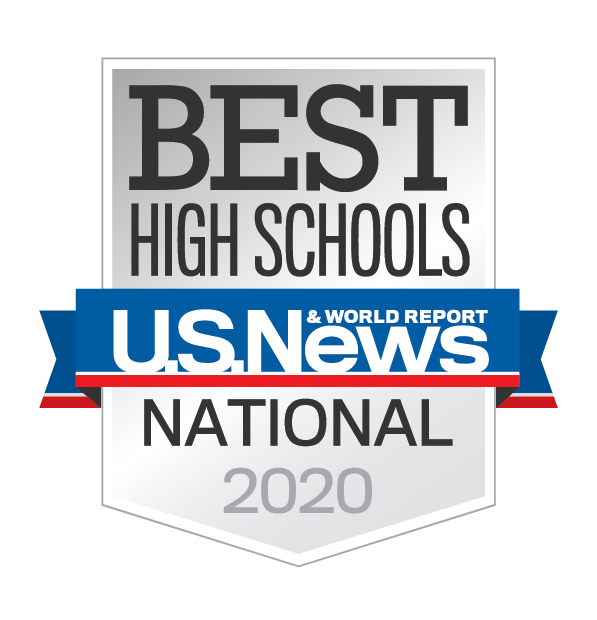 Rated one of the best high schools in the US by US News and World Report
