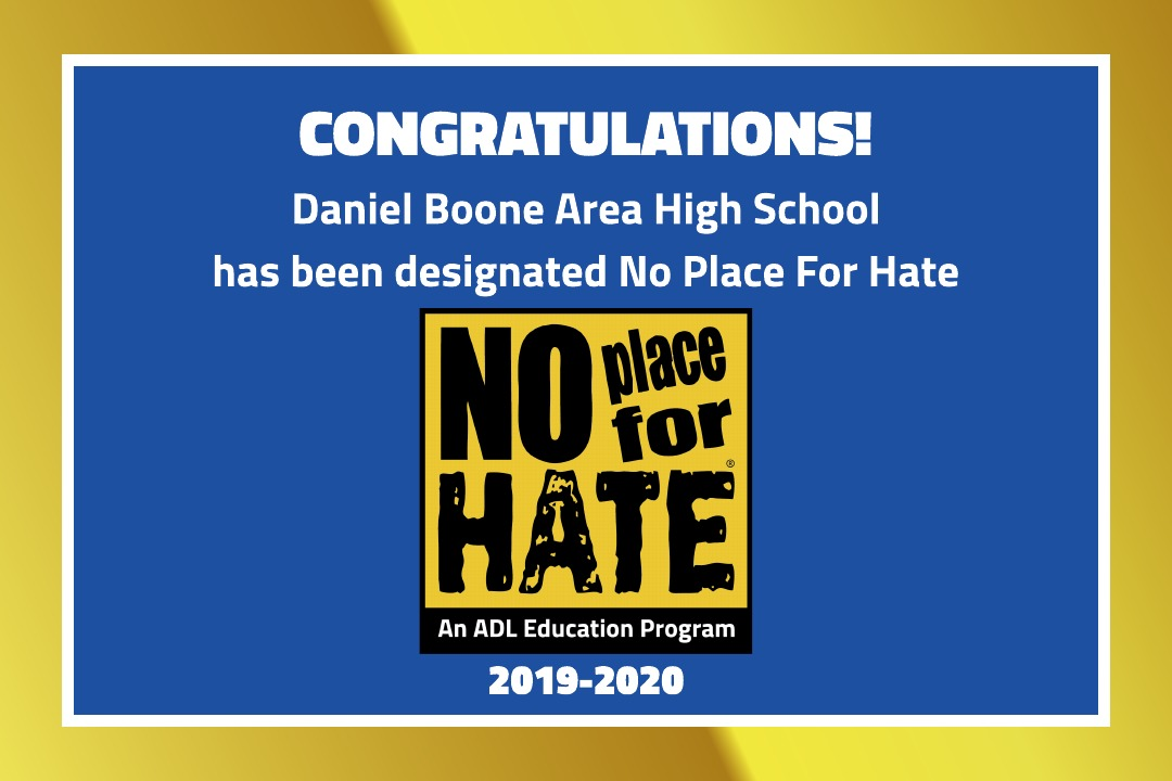 Daniel Boone Area High School has been designated No Place for Hate