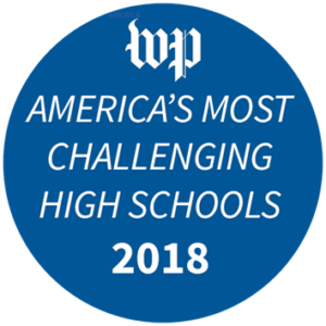 Awarded Washington Post Most Challenging High School Award in 2018